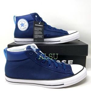 Converse Ctas High Street Mid Leather Navy Men's